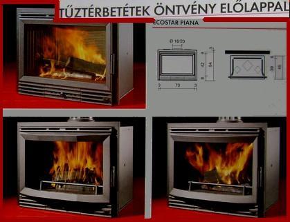 tűztérbetétEK Öntvény előlappal