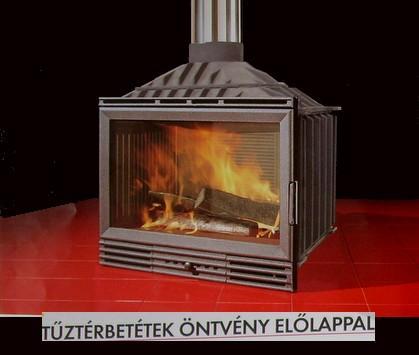 tűztérbetét Öntvény előlappal